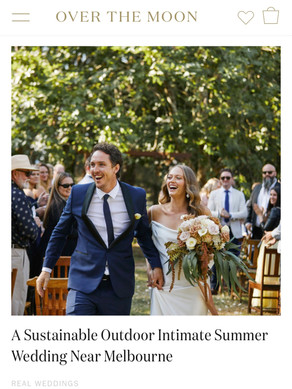 Ariana's Sustainable Outdoor Intimate Wedding Near Melbourne