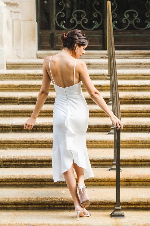 AIMEE Ruffle Drape Dress