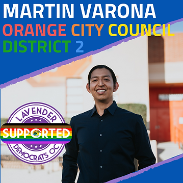 Martin Varona Orange city council distri
