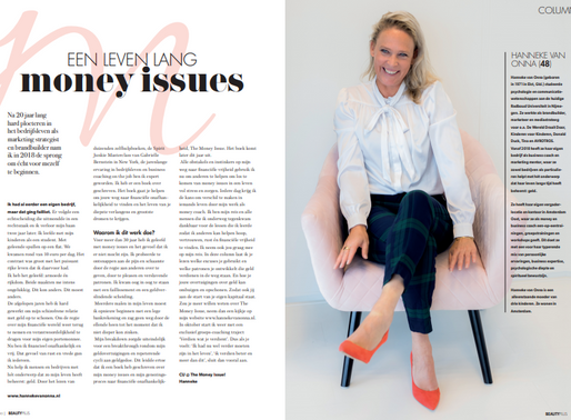 Een leven lang money issues | column Vrouwen&Geld in Beauty Plus Magazine | oktober 2019