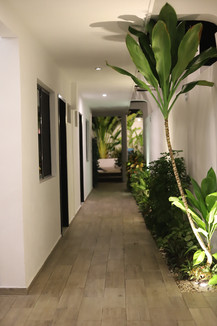 Hallway at night