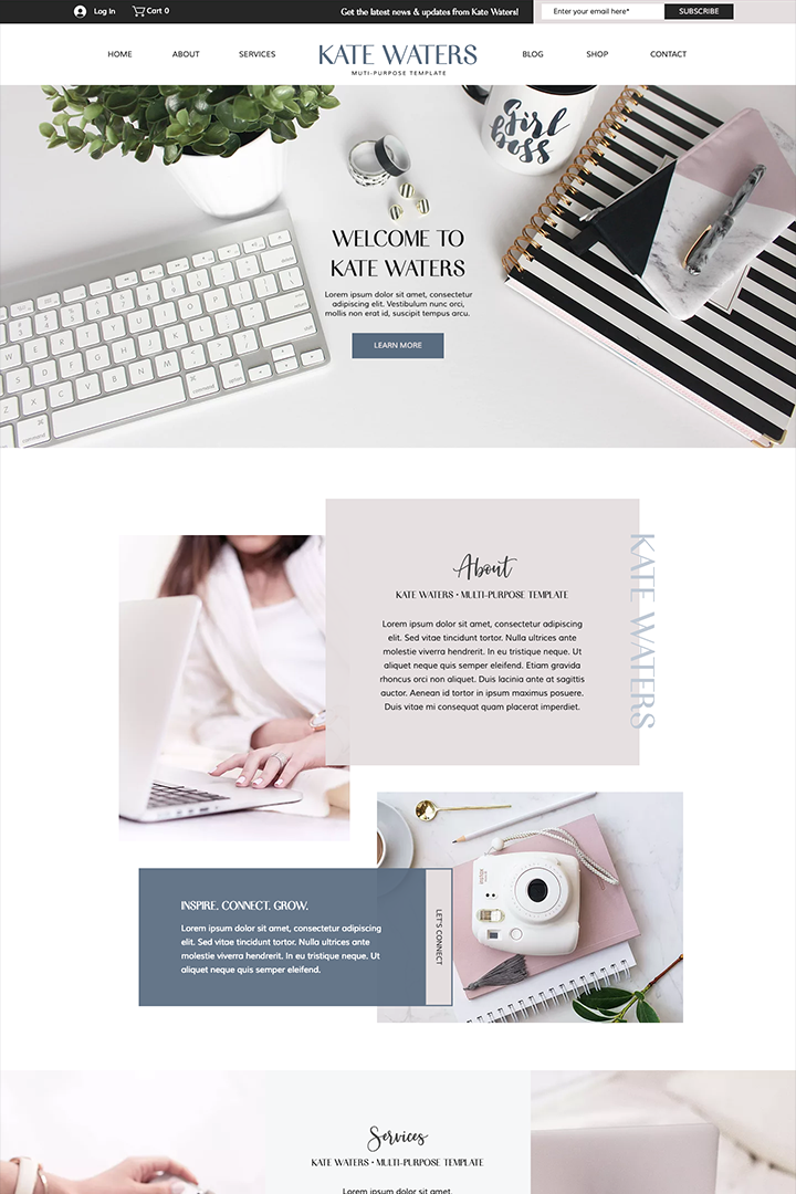 female entrepreneur website template sophisticated high end