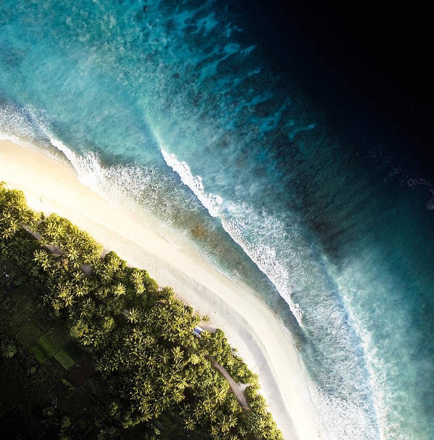 Overhead Beach View