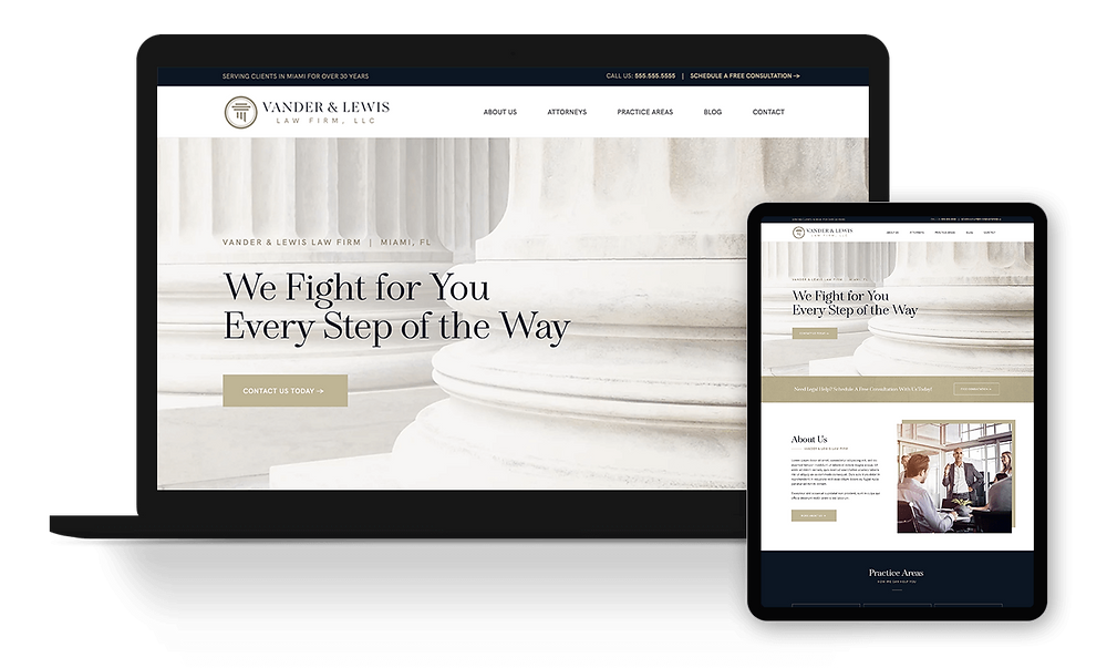 Premium Wix Law Firm Template