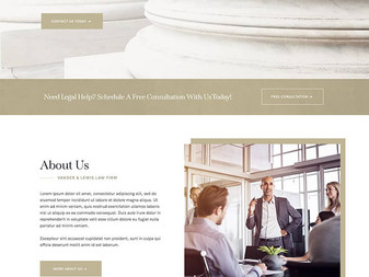 New Wix Law Firm Website Template