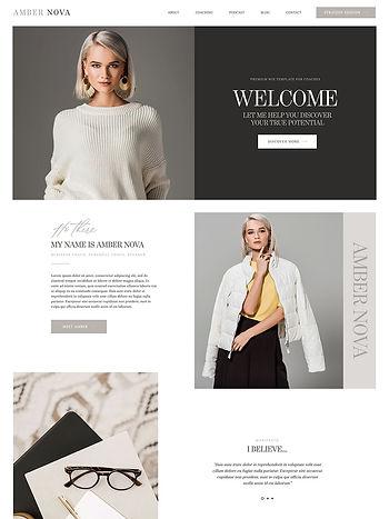 Wix Pro Themes, Amber Nova, Wix Coaching Website Template