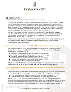 Social Security Quick Facts | CK Financial Resources