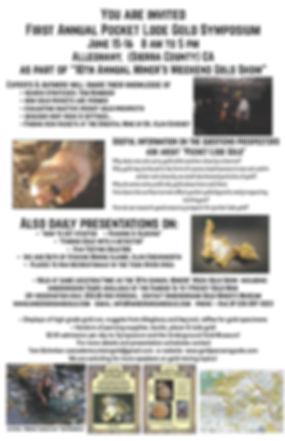 pocket gold, pocket lode symposium, alleghany CA