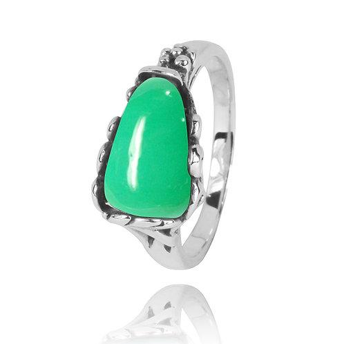 NRB3344-CRP - Elegant Organic Design Chrysoprase Ring