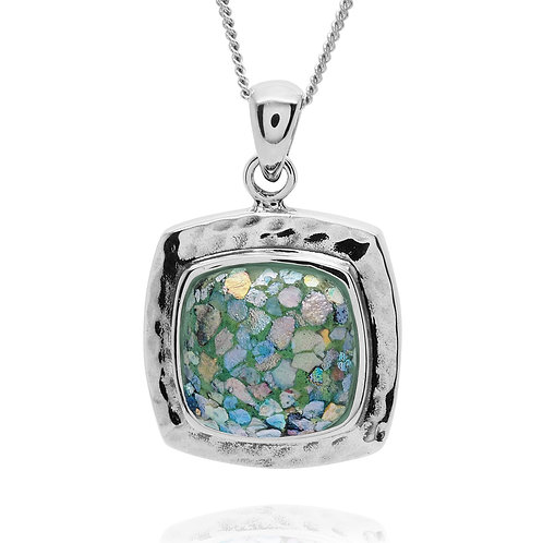 NP11723-RG - Sterling Silver Roman Glass Pendant - Gemstone Jewelry