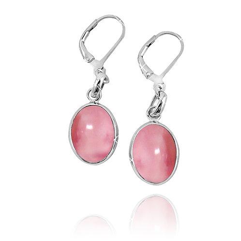 NEA3054-PPKOP - Elliptic Elegant Peru Pink Opal Earrings