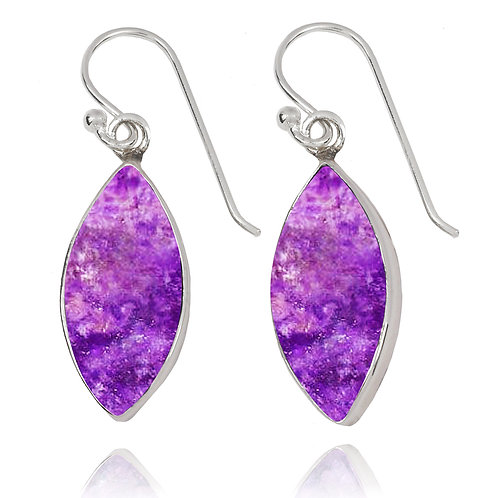 NEA3717-SUG - Classic Marquise Shape Earrings with Sugilite