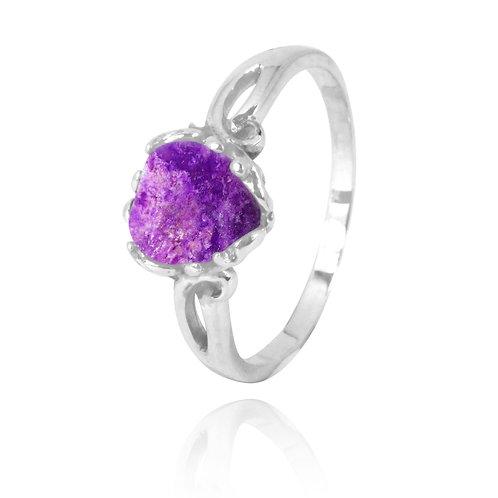 NRB3304-SUG -  Heart Shape Sugilite Coral Ring