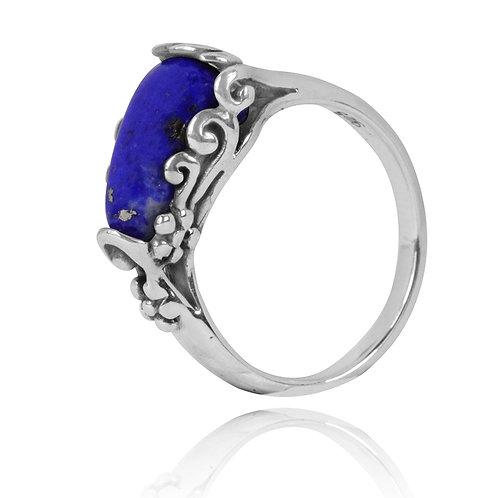NRB3344-LAP - Elegant Organic Design Lapis Lazuli Ring