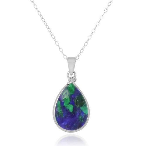 [NP10001-AZM] Raindrop Shape Azurite Malachite Pendant  0 Review(s)