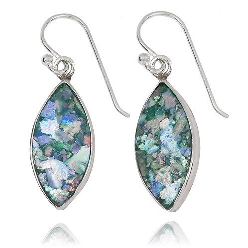 NEA3717-RG - Classic Minimal Roman Glass Earings