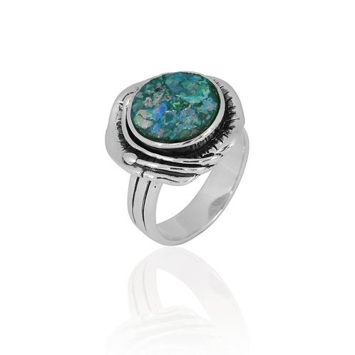 NRB8800-RG -Elegant Roman Glass Ring
