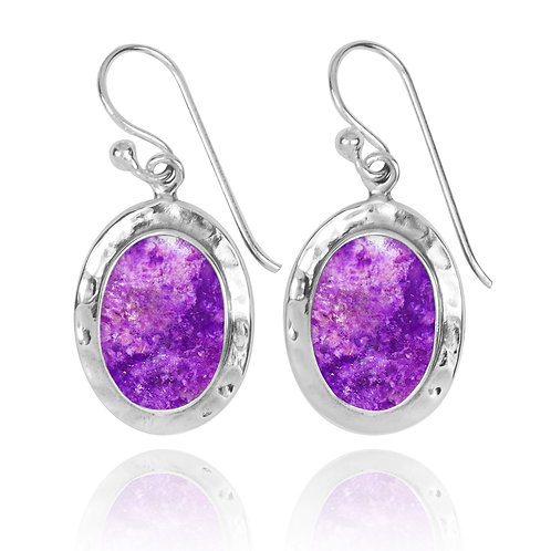 NEA3724-SUG -Oval Classic Earrings with Sugilite
