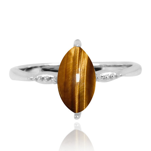 NRB4594-BRTE - Elegant Stacking Ring -Tiger Eye
