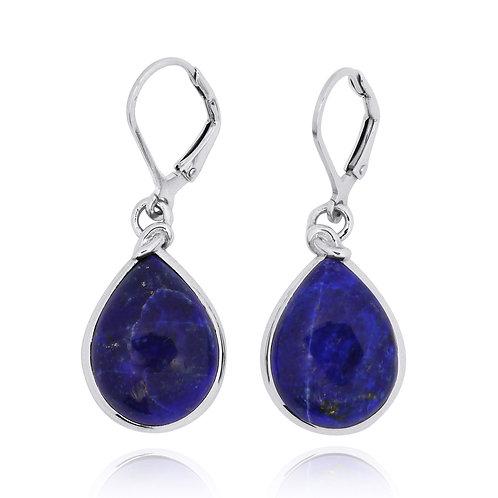 NEA3009-LAP - Classic Drop Shape Lapis Lazuli Earrings