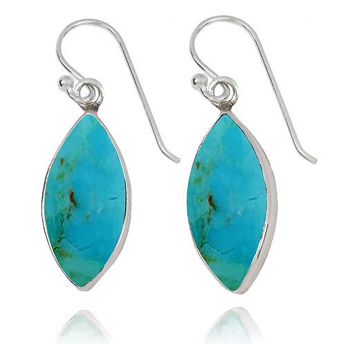 NEA3717-GRTQ - Classic Marquise Shape Turquoise Earrings