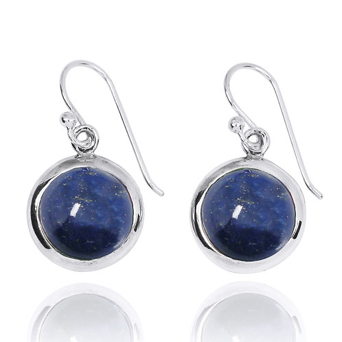 NEA3713-LAP-Classic Round Earrings with Lapis