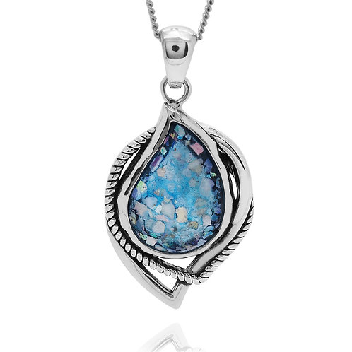NP12058-RG - Contemporary Elegant Roman Glass Pendant