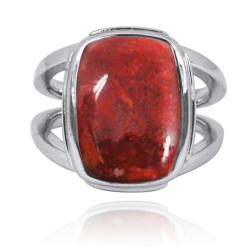 NRB0766-SPC - Sponge Coral Statement Ring