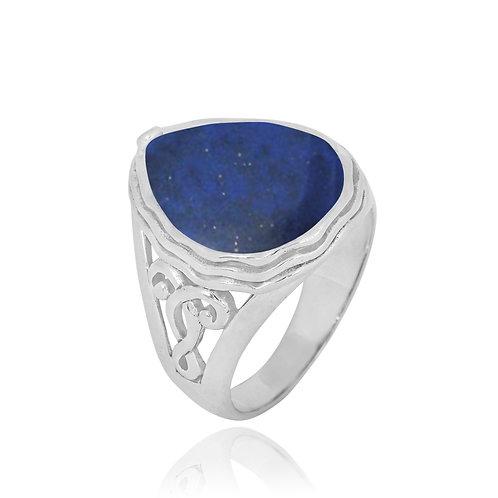 NRB8804-LAP -  Pear Shape Lapis Lazuli Elegant Statement Ring