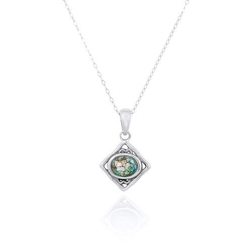 NP12370-RG - Elegant Roman Glass Pendant