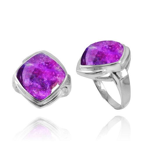 [NRB6809-SUG] Cushion Shape Sugilite Gemstone Ring