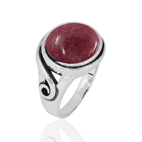 NRB8802-RDN -  Round Shape Rhodonite  Elegant Contemporary Ring
