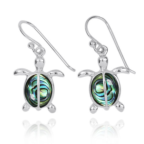 NEA3183-ABL - Classic Turtle Earrings with Abalone
