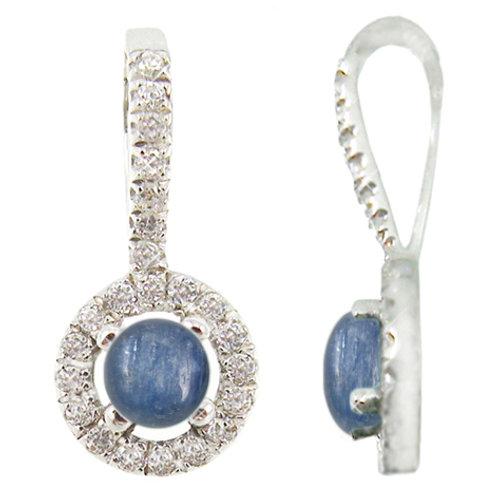 NP9651-KYA - Elegant Kyanite and CZ pendant
