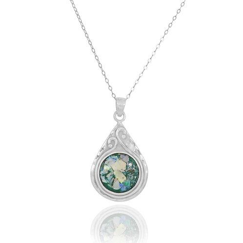 NP11604-RG - Elegant and UniqueRoman Glass Pendant