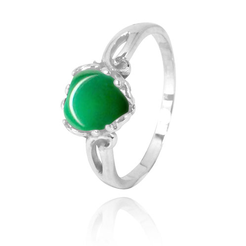 NRB3304-CRP -  Heart Shape Chrysoprase Ring