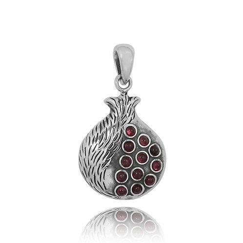 NP12428-GARCZ - Garnet stones pendant - Pemegrante Design