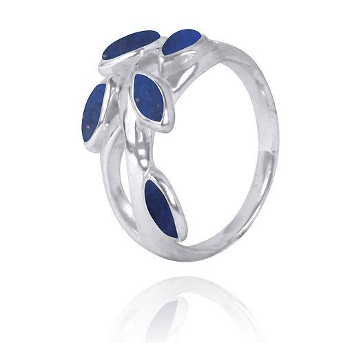 NRB2020-LAP - Extraordinary Leaf Design Lapis Lazuli Ring