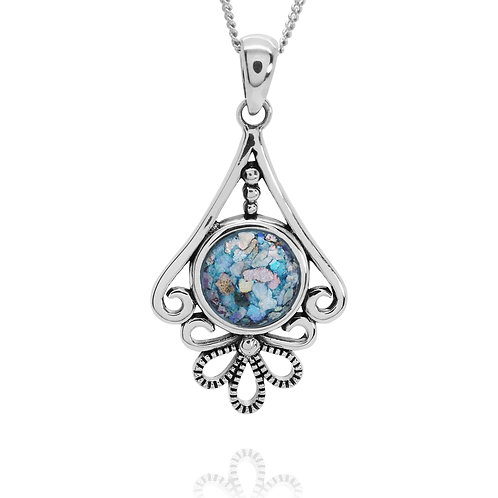 NP12074-RG - Classic Elegant Pendant with Roman Glass