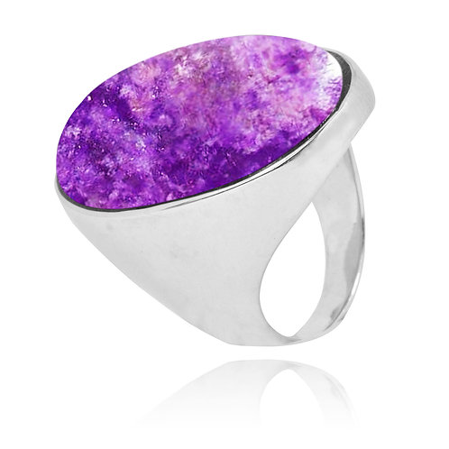 NRB5973-SUG - ClassicOval Sugilite Ring