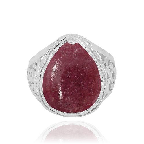 NRB8804-RDN -  Pear Shape Rhodonite Elegant Statement Ring