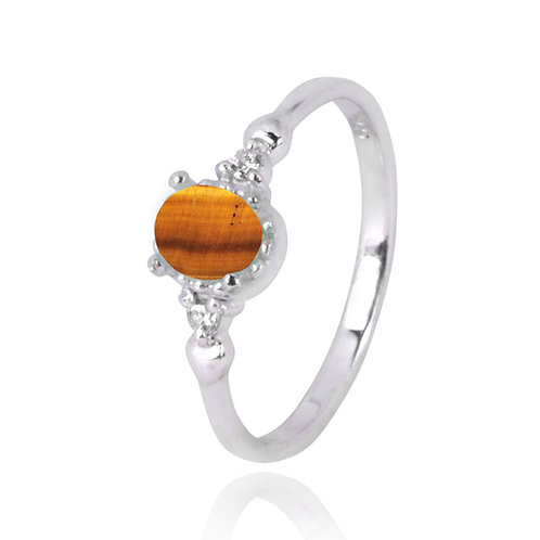 NRB4475-BRTE -  Oval Shape Tiger Eye Classic Ring