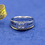 Thumbnail: KRG12- ELEGANT SILVER RING WITH 14K GOLD WIRE , LASER ENGRAVING AND BIRTHSTONE