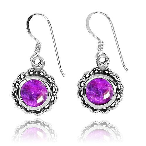 NEA3749-SUG - Flowery Earrings with Sugilite