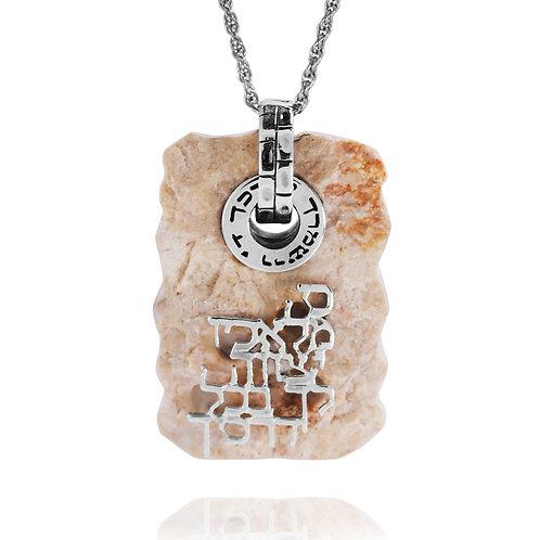 NP11965-JRSL - Elegant Angel versa pendant with Jerusalem Stone