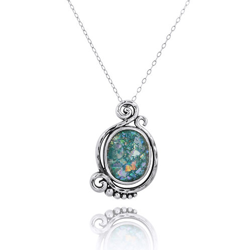 NP11605-RG - Elegant ContemporaryDesign Roman Glass Pendant