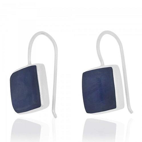 [NEA2411-KYA] Cushion Shape Kyanite Drop Earrings