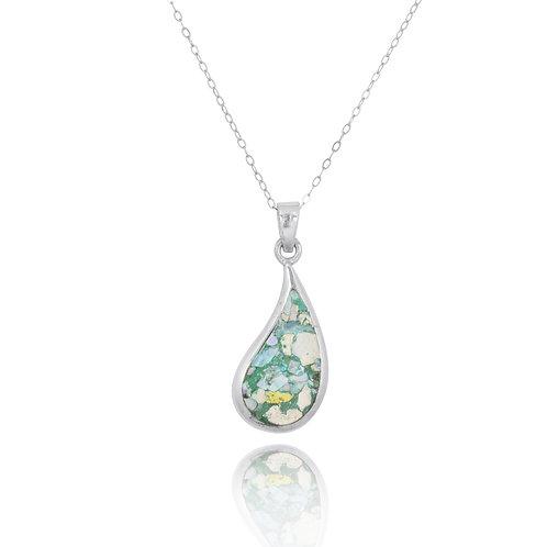 NP2229-RG- ElegantDrop Shape Modern Design Roman Glass Pendant