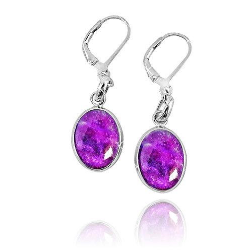 NEA3054-SUG - Elliptic Elegant Sugilite Earrings