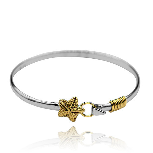 NB0610 -18K Gold Plated Sea Life Bangle - Star fish design